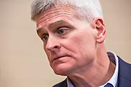Senator Bill Cassidy at a town hall meeting in Denham Springs, LA on Feb. 21, 2017.