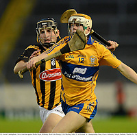 15 September 2012; Aaron Cunningham, Clare, in action against Richie Doyle, Kilkenny. Bord Gáis Energy GAA Hurling Under 21 All-Ireland 'A' Championship Final, Clare v Kilkenny, Semple Stadium, Thurles, Co. Tipperary. Picture credit: Matt Browne / SPORTSFILE