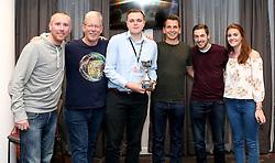 Winners of the Foundation Trust Quiz 'Team Comms' with the trophy - Mandatory by-line: Robbie Stephenson/JMP - 19/09/2016 - FOOTBALL - Ashton Gate - Bristol, England - Bristol City Community Trust Quiz