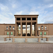 Morning image of main elevation Lassen County Superior Court House Photos. Photographed for Lionakis, Clark & Sullivan Construction, & Glumac. Susanville, CA.