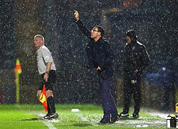 Chesterfield Manager Dean Saunders gestures  - Mandatory byline: Matt McNulty/JMP - 07966 386802 - 06/10/2015 - FOOTBALL - Spotland Stadium - Rochdale, England - Rochdale v Chesterfield - Johnstones Paint Trophy