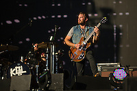 The Kings of Leon perform at the Global Citizen's Festival in New York's Central Park. <br /> <br /> The free, ticketed event is part of the Global Citizen platform, a social media and live-event campaign. Musicians and celebrities join dignitaries and philanthropists to urge world leaders to act towards ending extreme poverty by 2030. Free tickets were earned by fans who logged on to www.globalfestival.com to learn and share content about four main themes: education, women's equality, global health and global partnerships.<br /> <br /> (Photo by Robert Caplin) 2013 Global Citizen's Festival. <br /> <br /> Photo ©Robert Caplin