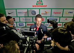 29.04.2013, Weserstadion, Bremen, GER, 1.FBL, SV Werder Bremen, im Bild Thomas Eichin (Geschaeftsfuehrer Sport, SV Werder Bremen) beim spontan anteraumten Pressegespräch zur Suspendierung von Marko Arnautovic (SV Werder Bremen #7) und Eljero Elia (SV Werder Bremen #11) bis zum Saisonende // press area of the German Bundesliga Club SV Werder Bremen at the Weserstadion, Bremen, Germany on 2013/04/29 . EXPA Pictures © 2013, PhotoCredit: EXPA/ Andreas Gumz ..***** ATTENTION - OUT OF GER *****