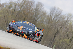 May 4, 2018 - Lexington, Ohio, United States of America - The Compass Racing/ AlphaClone/ Pfaff Automotive/ McLaren/ AERO Advanced Paint Technology/ Race Day Foundation McLaren GT4 races through the turns at the Mid-Ohio 120 at Mid Ohio Sports Car Course in Lexington, Ohio. (Credit Image: © Walter G Arce Sr Asp Inc/ASP via ZUMA Wire)