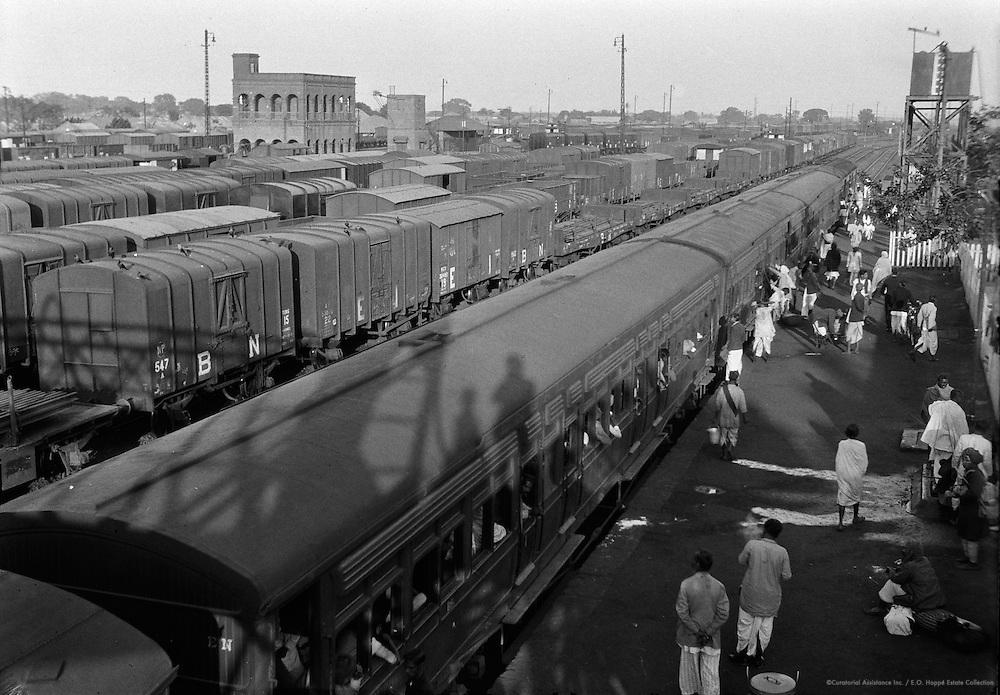 Train Roofs, Station Scene, Kharagpur, India, 1929