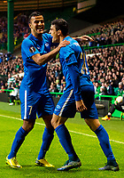 05/11/15 UEFA EUROPA LEAGUE GROUP STAGE<br /> CELTIC v MOLDE FK<br /> CELTIC PARK - GLASGOW<br /> Molde's Mohamed Elyounoussi (right) celebrates his goal with team-mate Harmeet Singh