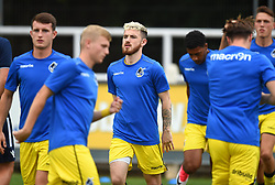Dylan McGlade of Bristol Rovers XI during warm-up - Mandatory by-line: Paul Knight/JMP - 18/07/2017 - FOOTBALL - Viridor Stadium - Taunton, England - Taunton Town v Bristol Rovers XI - Pre-season friendly