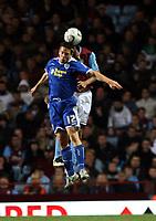 Photo: Mark Stephenson.<br /> Aston Villa v Leicester City. Carling Cup. 26/09/2007.Leicester's Matt Fryatt wins the ball