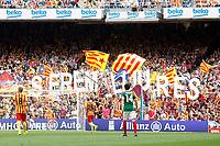 Separatist vindication 'We'll be free' during La Liga match.September 13,2014. (ALTERPHOTOS/Acero)
