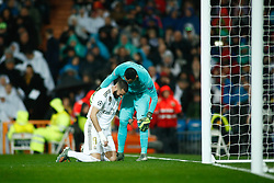 November 26, 2019, Madrid, MADRID, SPAIN: Karim Benzema of Real Madrid and Keylor Navas of Paris Saint-Germain during the UEFA Champions League football match, Group A, played between Real Madrid and Paris Saint-Germain at Santiago Bernabéu Stadium on November 26, 2019, in Madrid, Spain. (Credit Image: © AFP7 via ZUMA Wire)