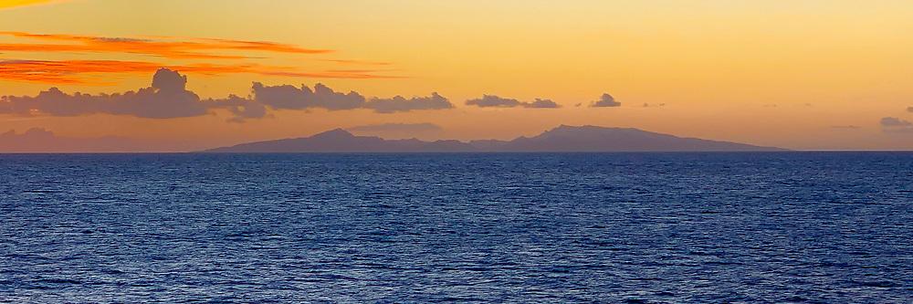 Raiatea Island at Sunset, Society Islands, French Polynesia; South Pacific
