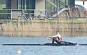 Hazewinkel, BELGIUM,  Men's Lightweight single scull, Zac PURCHASE after winning  the A final,  at the Monday Morning Final.  British Rowing Senior Trails, Bloso Rowing Centre. Monday  12/04/2010.  [Mandatory Credit. Peter Spurrier/Intersport Images]
