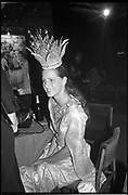 Trinni Woodall, Boisdale Ball, London Dungeons, London. 25 September 1986. <br /><br />SUPPLIED FOR ONE-TIME USE ONLY> DO NOT ARCHIVE. © Copyright Photograph by Dafydd Jones 248 Clapham Rd.  London SW90PZ Tel 020 7820 0771 www.dafjones.com