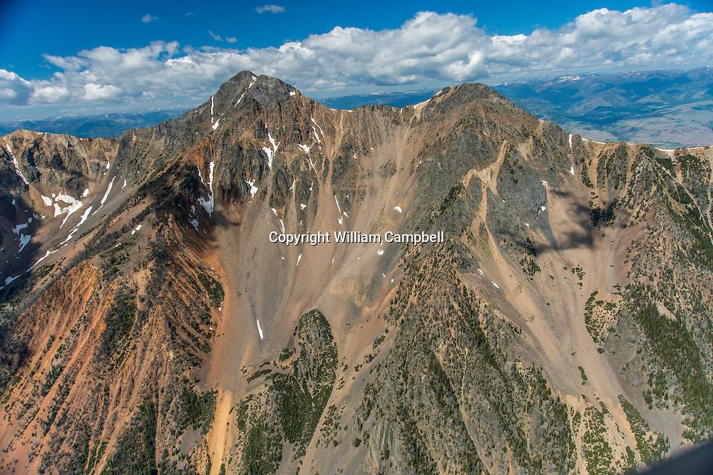 Aerial view of Emigrant Peak in Paradise Valley, Montana.