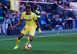 November 4, 2018 - Villarreal, U.S. - VILLARREAL, SPAIN - NOVEMBER 04: Chukwueze, forward of Villarreal CF looks during the La Liga match between Villarreal CF and Levante UD on November 04, 2018, at Estadio de la Ceramica in Villarreal, Spain. (Photo by Carlos Sanchez Martinez/Icon Sportswire) (Credit Image: © Carlos Sanchez Martinez/Icon SMI via ZUMA Press)
