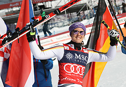 27.01.2018, Lenzerheide, SUI, FIS Weltcup Ski Alpin, Lenzerheide, Riesenslalom, Damen, Flower Zeremonie, im Bild Viktoria Rebensburg (GER) // Viktoria Rebensburg of Germany during the Flowers ceremony for the ladie's Giant Slalom of FIS Ski Alpine World Cup in Lenzerheide, Austria on 2018/01/27. EXPA Pictures © 2018, PhotoCredit: EXPA/ Sammy Minkoff<br /> <br /> *****ATTENTION - OUT of GER*****