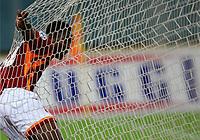 Roma 21/9/2005 Campionato Serie A <br /> <br /> Roma Parma 4-1<br /> <br /> Shabani Nonda celebrates after scoring his first goal <br /> <br /> Shabani nonda esulta dopo aver segnato il suo primo gol<br /> <br /> Photo Andrea Staccioli Graffiti