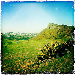 Arthurs Seat, Edinburgh..Hipstamatic images taken on an Apple iPhone..©Michael Schofield.