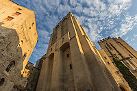 Palais des Papes - The Palace of the Popes stands as a symbol of the church's influence throughout the catholic world in the 14th century.  Construction was organized by two popes, Benedict XII and his successor Clement VI. Palais des Papes is one of the largest medieval Gothic buildings in Europe. The Palais became obsolete when the papacy returned to Rome. The visitor can view scenes of historic events, the pope's private chambers and the frescoes painted by the Italian artist Matteo Giovannetti.  The Popes' Palace is in the top ten most visited attractions of France and a UNESCO World Heritage Site.