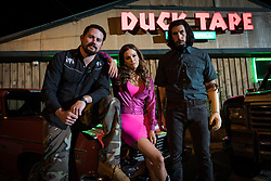 LL_02433<br /> (l-r) Channing Tatum stars as Jimmy Logan, Riley Keough as Mellie Logan and Adam Driver as Clyde Logan in Steven Soderbergh's LOGAN LUCKY, a Fingerprint Releasing and Bleecker Street release.<br /> Credit:  Michael Tacket / Fingerprint Releasing | Bleecker Street