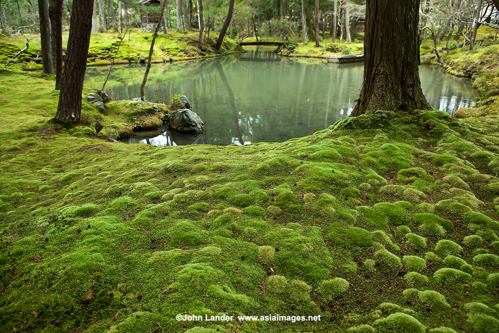 The Moss Garden at Saihoji Temple is one of the few temples in Kyoto where visitors must request an invitation in advance before their visit. Visitors are required to participate in chanting and writing sutras before visiting the famous gardens. In this way the monks are able to maintain the temple and garden and prevent mass tourism from destroying the tranquility of this UNESCO World Heritage Japanese garden.
