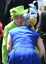 Members of The Royal Family attend the first day of Royal Ascot at Ascot Racecourse, Ascot, Berkshire, UK, on the 20th June 2017. 20 Jun 2017 Pictured: Queen, Queen Elizabeth, Zara Tindall. Photo credit: James Whatling / MEGA TheMegaAgency.com +1 888 505 6342