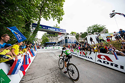 Ivan MORENO SANCHEZ of EQUIPO KERN PHARMA during 2nd Stage of 27th Tour of Slovenia 2021 cycling race between Zalec and Celje (147 km), on June 10, 2021 in Slovenia. Photo by Vid Ponikvar / Sportida