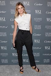 Model Constance Jablonski attends the WSJ. Magazine 2017 Innovator Awards at MOMA in New York, NY, on November 1, 2017. (Photo by Anthony Behar/Sipa USA)