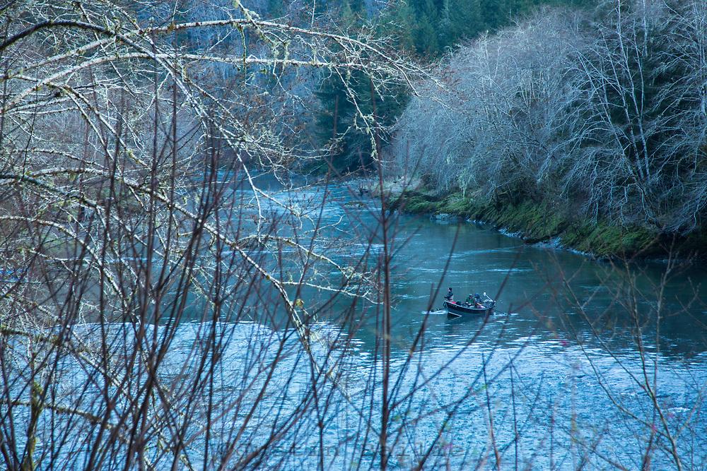 Fishing the Nehalem River. Oregon coast.