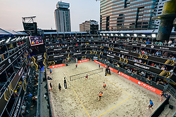 Centercourt during the third day of the beach volleyball event King of the Court at Jaarbeursplein on September 11, 2020 in Utrecht.