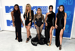 Fifth Harmony's Ally Brooke, Normani Kordei, Dinah Jane, Camila Cabello, and Lauren Jauregui arriving at the MTV Video Music Awards 2016, Madison Square Garden, New York City. PRESS ASSOCIATION Photo. Picture date: Sunday August 28, 2016. See PA story SHOWBIZ MTV. Photo credit should read: PA Wire