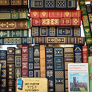 Books on display at an antique stall in Portobello Road market