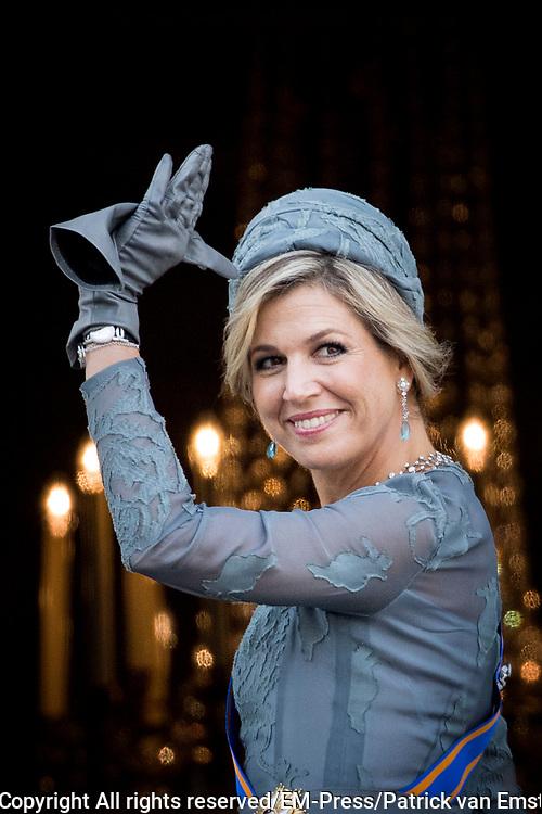 Prinsjesdag 2017, de dag waar de Koning in de Staten-Generaal van het Koninkrijk der Nederlanden in verenigde vergadering bijeen de troonrede uit.<br /> <br /> Prinsjesdag 2017, Opening of the parliamentary year<br /> <br /> op de foto:  Koningin Maxima / Queen Maxima