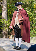"A professional actor portrays Patrick Henry with gusto in Colonial Williamsburg. In 1776, Patrick Henry became the first governor of the Commonwealth of Virginia, newly formed with the world's first written constitution adopted by the people's representatives. He lived May 29, 1736 - June 6, 1799, and was most remembered for his ""Give me Liberty, or give me Death!"" speech. Patrick henry was one of the most influential and radical advocates of the American Revolution and republicanism, especially in his denunciations of corruption in government officials and his defense of historic rights. Colonial Williamsburg is the historic district of the independent city of Williamsburg, Virginia, which was colonial Virginia's capital from 1699 to 1780, and a center of education and culture. Here, Thomas Jefferson, Patrick Henry, James Monroe, James Madison, George Wythe, Peyton Randolph, and dozens more helped mold democracy in the Commonwealth of Virginia and the United States. For licensing options, please inquire."