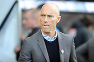 Swansea City manager Bob Bradley looks on. Premier league match, Swansea city v Watford at the Liberty Stadium in Swansea, South Wales on Saturday 22nd October 2016.<br /> pic by  Carl Robertson, Andrew Orchard sports photography.