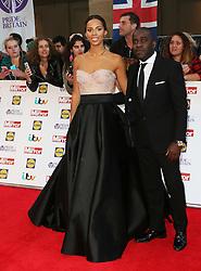 Rochelle Humes, Melvin Odoom, Pride of Britain Awards, Grosvenor House Hotel, London UK. 28 September, Photo by Richard Goldschmidt /LNP © London News Pictures