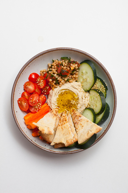 Hummus Plate from the fridge (m€) - COVID-19 Social Distancing