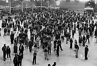 1939 Ice skaters pose for the camera at The Pan-Pacific Auditorium