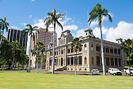 Iolani Palace located in the capitol district of Honolulu, is the only royal palace in the United States and is built in the architectural style of American Florentine.