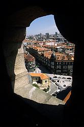 Europe, Portugal, Oporto (Porto). City view from Torre dos Cierigos, 18th c.