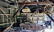 Dobczyce, 2020-05-09. Skansen Drewnianego Budownictwa Ludowego wDobczycach - wozownia. Skansen znajduje się przy samym zamku i biegnie tędySzlak Architektury DrewnianejwMałopolsce.