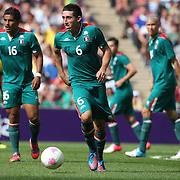 Hector Herrera, Mexico, in action during the Brazil V Mexico Gold Medal Men's Football match at Wembley Stadium during the London 2012 Olympic games. London, UK. 11th August 2012. Photo Tim Clayton