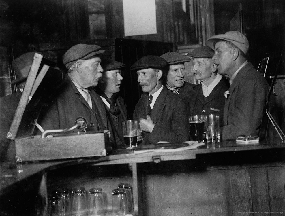 In the Tap Room of the Inn, Faversham, England, 1932