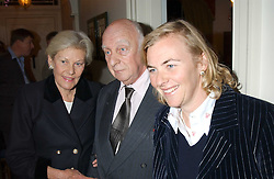 Left to right, PRINCE & PRINCESS RUPERT LOWENSTEIN and their daughter COUNTESS MANFREDI DELLA GHERARDESCA  at a Conservative Party Reception for the Art held at 24 Thurloe Square, Lndon SW7 on 5th April 2005.<br />