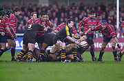 Gloucester, Gloucestershire, UK., 04.01.2003, Wasp's Rob HOWLEY releases the ball, during, Zurich Premiership Rugby match, Gloucester vs London Wasps,  Kingsholm Stadium,  [Mandatory Credit: Peter Spurrier/Intersport Images],