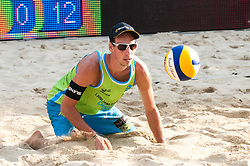 Nejc Zemljak at Beach Volleyball Challenge Ljubljana 2014, on August 2, 2014 in Kongresni trg, Ljubljana, Slovenia. Photo by Matic Klansek Velej / Sportida.com