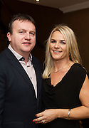 Gary Monroe, Monroe;s Taverna and Suzanne McClean at the Gorta Self Help Africa Annual Ball in Hotel Meyrick Galway City. Photo: Andrew Downes, XPOSURE.