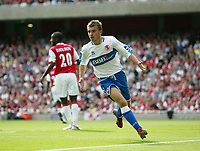 Photo: Chris Ratcliffe.<br />Arsenal v Middlesbrough. The Barclays Premiership. 09/09/2006.<br />James Morrison of Middlesbrough celebrates scoring the first Middlesbrough goal.