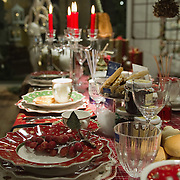 TREVISO, ITALY - DECEMBER 06:  A Christmas decorated table is seen at Morandin shop on December 6, 2011 in Treviso, Italy. Christmas Markets are popular in Northern Italian cities, selling festive items including lights, nativity scenes, decorations and local festive handicrafts. In most cities they will run from the end of November to January 6th. HOW TO LICENCE THIS PICTURE: please contact us via e-mail at sales@xianpix.com or call our offices in London   +44 (0)207 1939846 for prices and terms of copyright. First Use Only ,Editorial Use Only, All repros payable, No Archiving.© MARCO SECCHI