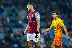 Rudy Gestede of Aston Villa looks frustrated - Mandatory byline: Rogan Thomson/JMP - 19/01/2016 - FOOTBALL - Villa Park Stadium - Birmingham, England - Aston Villa v Wycombe Wanderers - FA Cup Third Round Replay.